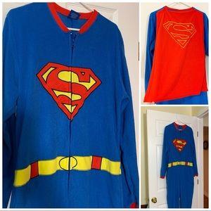 Superman or SuperGirl - costume or pajamas W/Cape